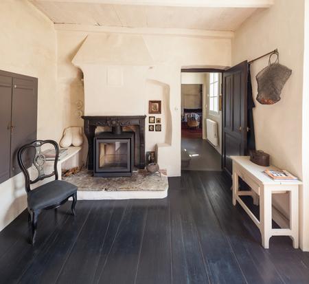 家は、ビンテージ、インテリア家具 写真素材