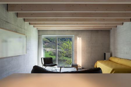 beam of light: Architecture modern design, living room