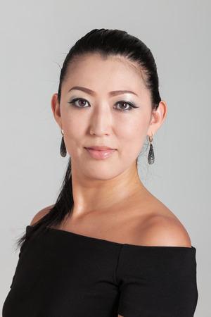 woman portrait: Elegant Asian woman in studio Stock Photo