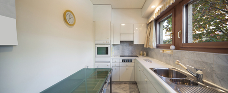 domestic kitchen: Interior of an old apartment, domestic kitchen