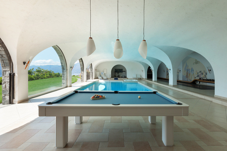luxury house: Luxury house, indoor swimming pool with billiard