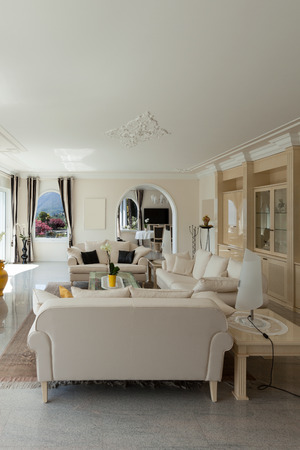 luxury house: living room in luxury house, comfortable lounge Stock Photo