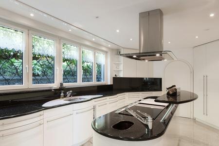 Interior, modern kitchen of a luxury home