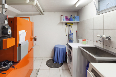 laundry room: Interior of building, laundry in cellar room