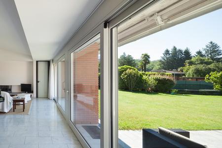 big windows: living room of a modern house, big windows, interior