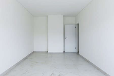 room door: Interior of empty apartment, room and open door