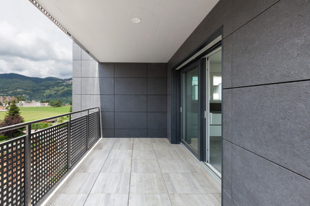 Architecture contemporary, balcony of a building