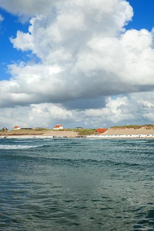 Beautiful landscape, sea and sky at Aarhus in Denmark