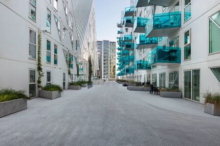 residential neighborhood: residential neighborhood at Aarhus in Denmark Editorial