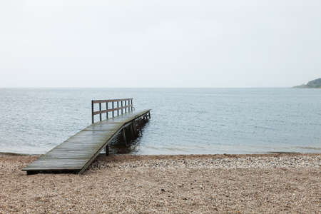 old pier: wooden pier, nobody inside