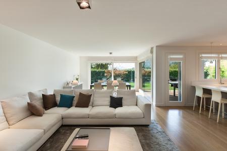 luxury room: living room of luxury house, comfortable divans