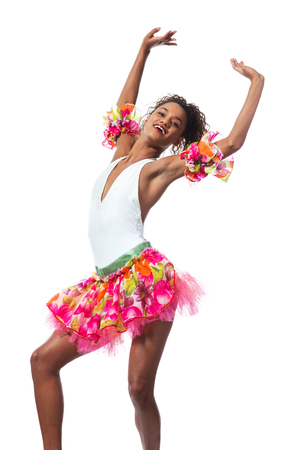 an entertainer: young dancer posing on a studio background