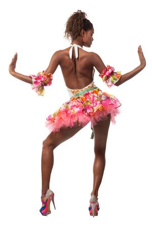 brazilian dancer isolated on white background, studio portrait Imagens