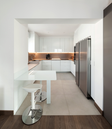 stool: Interior of apartment, modern kitchen