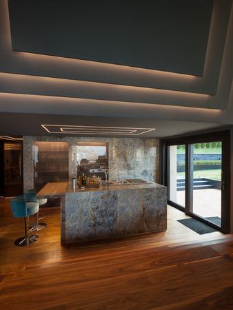 indoor inside: Interior of a luxury modern villa, nobody