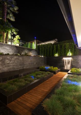 Garden in the yard of luxury villa