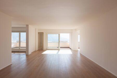 Interior of a modern house, big empty space. Nobody inside Archivio Fotografico