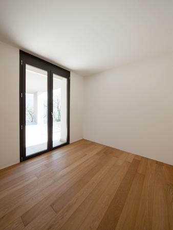 White empty room and windows. Nobody inside Archivio Fotografico
