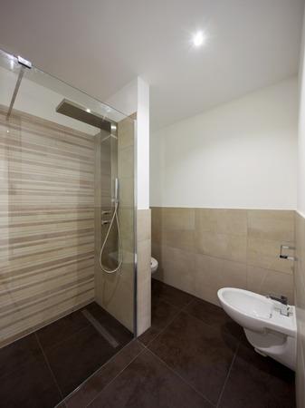 Interior of modern bathroom. Nobody inside