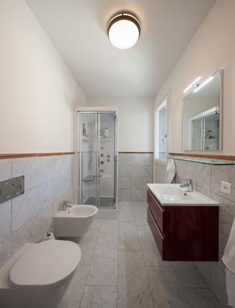 Interiors of a modern apartment, bathroom