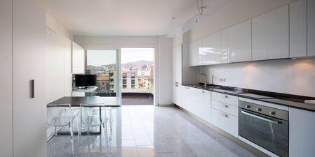 Kitchen of a modern apartment Archivio Fotografico