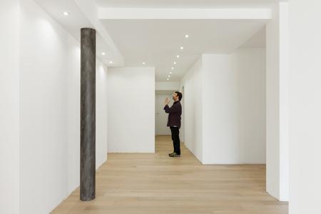Pazzo in un appartamento moderno. Il corridoio è vuoto