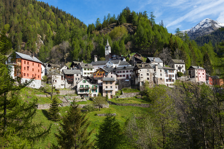 immersed: Small Swiss country immersed in nature