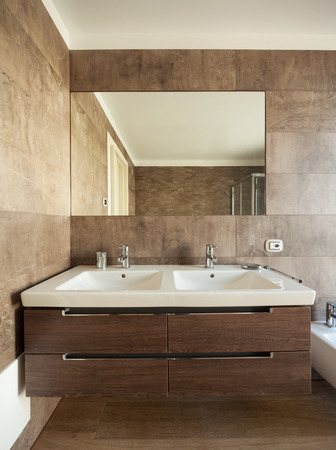 Modern bathroom, new and clean Stock Photo