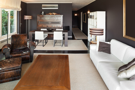 furniture design: Architecture, beautiful apartment furnished, comfortable living room