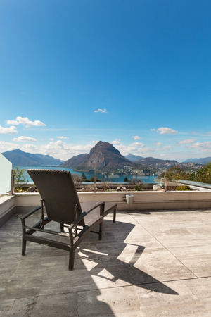 penthouse: Architecture, penthouse, panoramic terrace with lake view