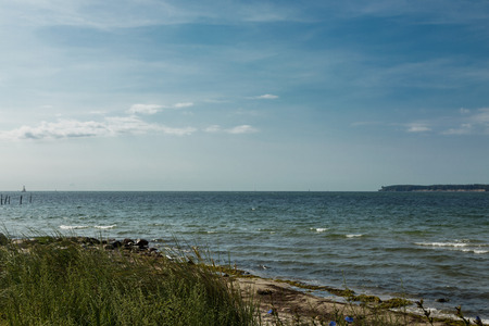 The north sea in Denmark during summer
