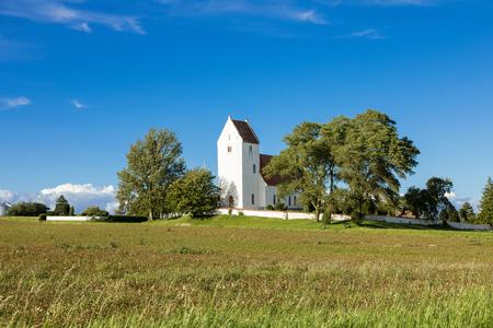 Kalvehave Kirke, a north church in Denmark. Lizenzfreie Bilder