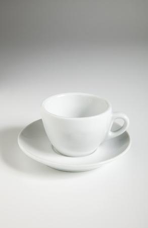 Ceramic coffee cup on white background Lizenzfreie Bilder