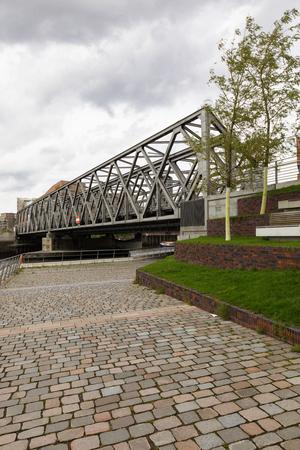 Bridge in Hafencity, Hamburg. Nobody inside.
