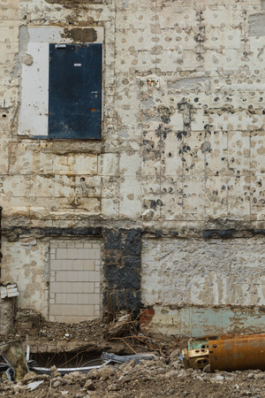 Detail of a decadent building Archivio Fotografico
