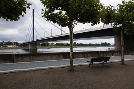 Oberkassler bridge on the Dusseldor river Rhine