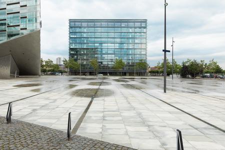 buildings in the square in Copenhagen, Hambrosgade Archivio Fotografico