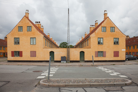 exterior of Danish antique folk houses