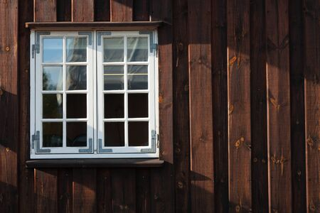 Detail of windows of old houses