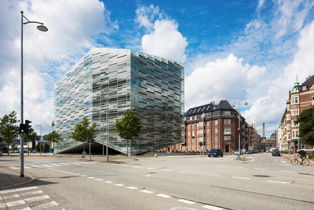 modern commercial building in Copenhagen Archivio Fotografico