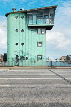 View of Langebro bridge in Copenhagen Archivio Fotografico