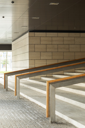 Entrance stairs to buildings, exteriors