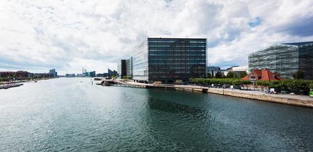 View from Langebro bridge in Copenhagen Archivio Fotografico