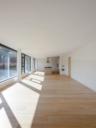 Nessuno in questa bella nuova stanza o cucina