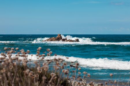 paesaggio marino dalla costa, nessuno Archivio Fotografico