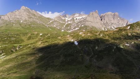 Alpine pass of San Bernardino in Switzerland Standard-Bild