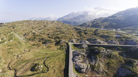 Alpine pass of San Bernardino in Switzerland Archivio Fotografico