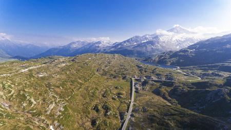 Passo alpino di San Bernardino in Svizzera Archivio Fotografico