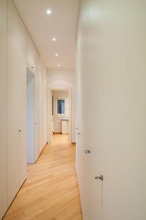 Modern corridor with wardrobes. Nobody inside Stock fotó