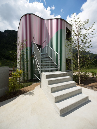 project by Daniel Buren and Davide Macullo in collaboration with Mario Crstiani and Galleria Continua